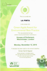 8e. European Bronze Award in the Green Apple Award