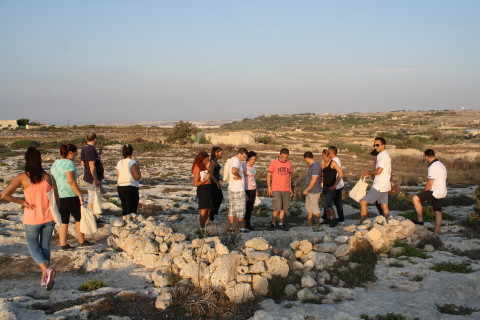 Exploring Prehistoric cart ruts and Punic tombs